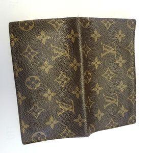 Louis Vuitton Leather Monogram Checkbook Cover